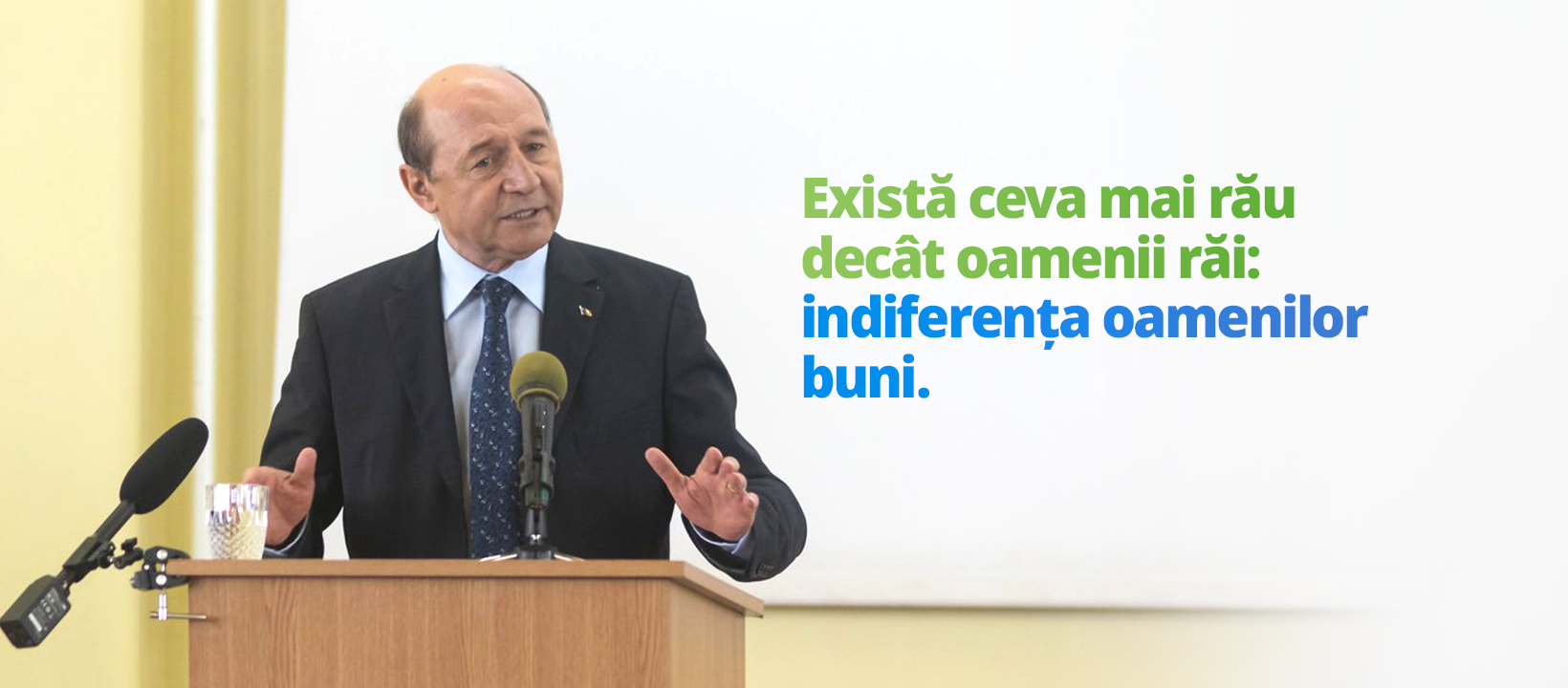 Imagine folosită de Traian Băsescu în campania din 2018 pentru Parlamentul European. Preluare cont Facebook Traian Băsescu