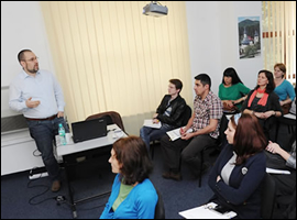 """""""Journalism during Local Elections. Ethical and Legal Limits""""; Agerpres, Bucharest (Romania), March 6, 2012. App. 30 trainees."""